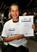 Birmingham, Great Britain, Women J11 [2min rowing]  Gold medallist Alice JENKINS, Bruton School For Girls, distance covered, 446m in 2 minutes. 2008 British Indoor Rowing Championships, National Indoor Arena. on  Sunday 26.10.2008 . [Photo, Peter Spurrier/Intersport-images] .
