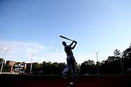 16 May 2016: Notre Dame's Jake Shepski takes a practice swing. The University of North Carolina Tar Heels hosted the University of Notre Dame Fighting Irish in an NCAA Division I Men's baseball game at Boshamer Stadium in Chapel Hill, North Carolina.