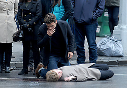 Oscar Isaac filming a scene for his new movie, Life Itself, in Lower Manhattan, New York City, NY, USA on March 26, 2017. Photo by Dennis Van Tine/ABACAPRESS.COM