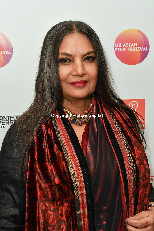 Shabana Azmi is an actress attends the UK Asian Film Festival closing flame awards gala - Red Carpet at BAFTA 195 Piccadilly, on 7 April 2019, London, UK