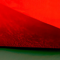 Red boat hull of a Trawler