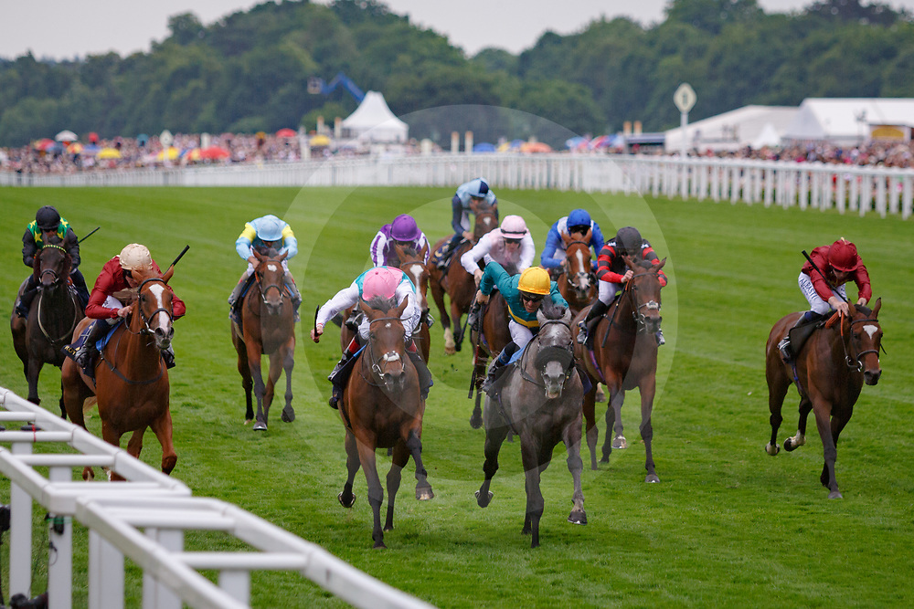 Coronet (O. Peslier) (yellow cap) wins The Ribblesdale Stakes Gr. 2, Royal Ascot 22/06/2017, photo: Zuzanna Lupa / Racingfotos.com