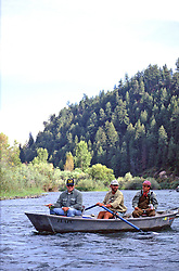 Dick Cheney and Jack Dennis Fly-fishing the South Fork of the Snake River in Swan Valley Idaho