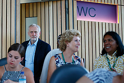 © Licensed to London News Pictures. 31/08/2016. London, UK. Leader of the opposition and Labour leadership candidate JEREMY CORBYN arrives to outline how his policy agenda benefits women on Wednesday, 31 August 2016 at Unison Centre, London. Photo credit: Tolga Akmen/LNP