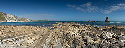 Panorama of Mupe Bay in Dorset