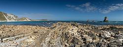 Panorama of Mupe Bay in Dorset