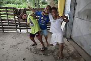 Children in Jardim São Marcos favela, Cubatão