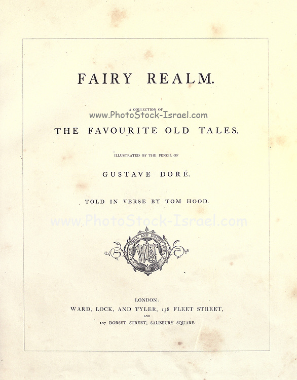 Frontispiece illustration by Gustave Dore from the book Fairy realm. A collection of the favourite old tales. Illustrated by the pencil of Gustave Dore by Tom Hood, (1835-1874); Gustave Doré, (1832-1883) Published in London by Ward, Lock and Tyler in 1866