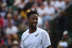 Gael Monfils (FRA) during his first round match at the 2019 Wimbledon Championships at the AELTC in London, UK on July 1, 2019. Photo by Corinne Dubreuil/ABACAPRESS.COM