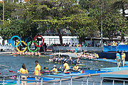 "Rio de Janeiro. BRAZIL, Final men's eights, 2016 Olympic Rowing Regatta. Lagoa Stadium,<br /> Copacabana,  ""Olympic Summer Games""<br /> Rodrigo de Freitas Lagoon, Lagoa.   Saturday  13/08/2016 <br /> <br /> [Mandatory Credit; Peter SPURRIER/Intersport Images]"
