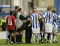 Photo: Aidan Ellis.<br /> Huddersfield Town v Bristol City. Coca Cola League 1. 12/08/2006.<br /> tempers fray midway through the second half