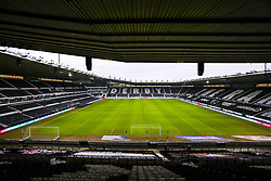 A general view inside Pride Park Stadium, home to Derby County - Mandatory by-line: Ryan Crockett/JMP - 16/01/2021 - FOOTBALL - Pride Park Stadium - Derby, England - Derby County v Rotherham United - Sky Bet Championship