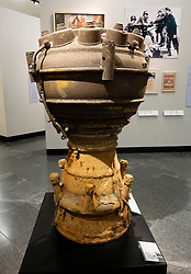 Combustion chamber of V2 Rocket at the Berlin History Museum, Germany