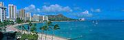 Waikiki Beach, Waikiki, Oahu, Hawaii, USA<br />