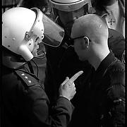 29-04-1993-Leeuwarden, symatisanten tijdens proces Neo Nazi's.<br /> Foto: Sake Elzinga