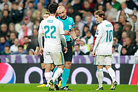 Real Madrid's Isco Alarcon have words with Polish referee Szymon Marciniak during Champions League Group H match 3. October 17,2017. (ALTERPHOTOS/Acero)