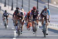 Arrival, BARDET Romain (FRA) AG2R La Mondiale, BOASSON HAGEN Edvald (NOR) Dimension Data, DUMOULIN Tom (NED) Giant, during the 7th Tour of Oman 2016, Stage 1, Oman Exhibition Center - Al Bustan (145,5Km), on February 16, 2016 - Photo Tim de Waele / DPPI