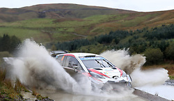 Toyota Gazoo Racing Ott Tanak on the Sweet Lamb stage during day three of the DayInsure Wales Rally GB. PRESS ASSOCIATION Photo. Picture date: Saturday October 6, 2018. See PA story AUTO Rally. Photo credit should read: David Davies/PA Wire. RESTRICTIONS: Editorial use only. Commercial use with prior consent from teams.