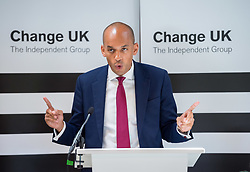 © Licensed to London News Pictures. 16/05/2019. Bath, Bath and North East Somerset, UK. CHUKA UMUNNA, a Change UK MP speaks at a Change UK - The Independent Group rally at Bath Cricket Club as part of campaigning in the elections for the European Parliament. Rachel Johnson is the lead Change UK candidate for south west England. Photo credit: Simon Chapman/LNP