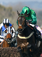 National Hunt Horse Racing - 2019 Randox Health Grand National Festival - Saturday, Day Three (Grand National Day)<br /> <br /> 1st placed D A Jacob on 1 Kildisart heads to victory in the 16.20 Betway Handicap Chase (Grade 3) (Class 1 )at Aintree Racecourse.<br /> <br /> COLORSPORT/WINSTON BYNORTH