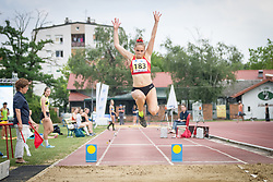 Nika Ude competes during day 2 of Slovenian Athletics Cup 2019, on June 16, 2019 in Celje, Slovenia. Photo by Peter Kastelic / Sportida