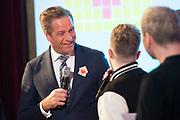 Het Vergeten Kind: Hartenhuis Award 2019 in de Vondelkerk, Amsterdam.<br /> <br /> Op de foto:  Unforgettables in gesprek met minister Hugo de Jonge (VWS)