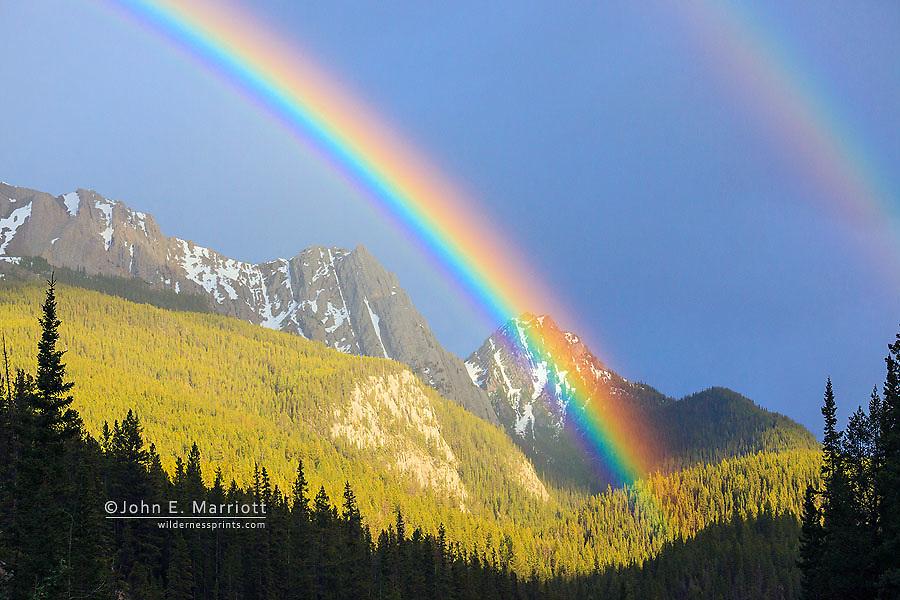 Rainbow in Banff National Park, Alberta, Canada