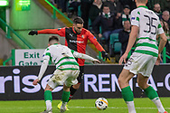 Romain Del Castillo (22) of Rennes looks for a path to goal  during the Europa League match between Celtic and Rennes at Celtic Park, Glasgow, Scotland on 28 November 2019.