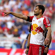 Damien Perrinelle, New York Red Bulls, in action during the New York Red Bulls Vs NYCFC, MLS regular season match at Red Bull Arena, Harrison, New Jersey. USA. 10th May 2015. Photo Tim Clayton