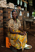 Woman at a market in Mpumalanga province