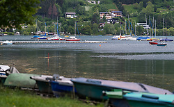 THEMENBILD - Segelboote am Zeller See, aufgenommen am 10. Mai 2018 in Zell am See, Österreich // Sailboats at the Zeller lake, Zell am See, Austria on 2018/05/10. EXPA Pictures © 2018, PhotoCredit: EXPA/ JFK