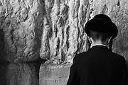 Israel, Jerusalem, Old City, Religious Jews at the wailing wall
