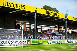 Cardboard cut outs and flags inside the Thatchers stand at the Memorial stadium  - Mandatory by-line: Dougie Allward/JMP - 19/09/2020 - FOOTBALL - Memorial Stadium - Bristol, England - Bristol Rovers v Ipswich Town - Sky Bet League One