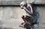 Mons, Belgium. Lucky monkey sculpture on the Grand Place. Weekend of inauguration of Mons as European Capital of Culture 2015 (24 January 2015). © Rudolf Abraham