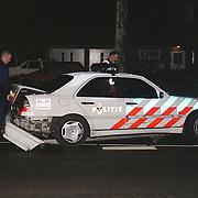 Ongeval politieauto uit de bocht Blaricummerstraat Huizen