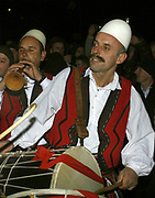Kosovo, Pristina<br /> Saturday (evening), February 16, 2008<br /> An cultural and artistick Kosovo Albanian Asociation get's in Pristina streets to make music for people who're already out for celebration's.<br /> The music which they do is Albanian native music, with them own national traditions.