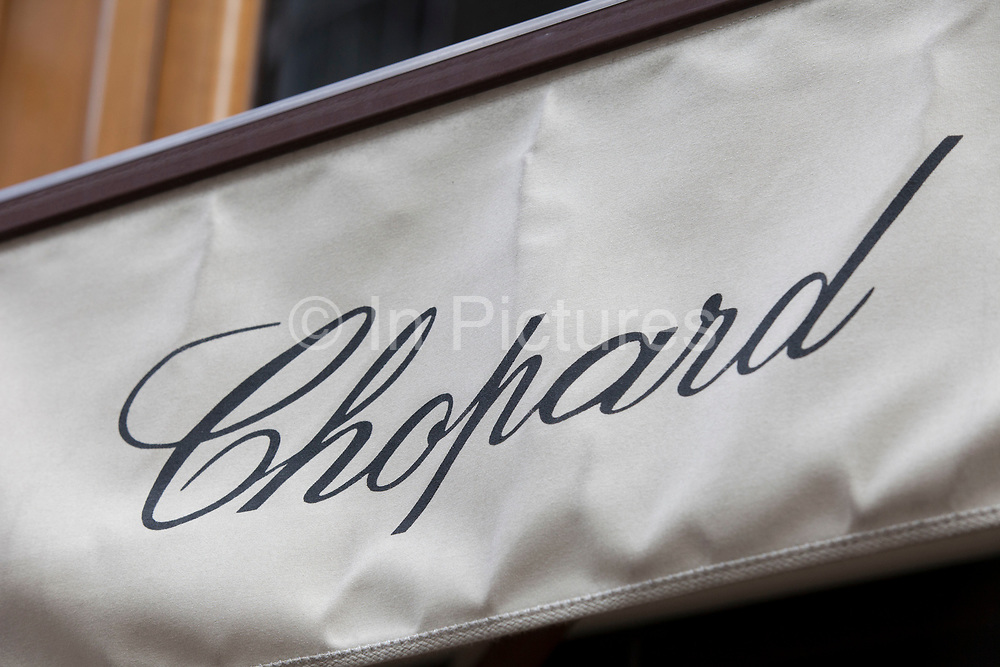 Sign for high end jewellers and exclusive brand Chopard.