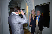 MATTHEW MELLON, NOELLE RENO AND NOELLE'S FATHER DON RENO, Garrard Colour And Cocktail Party, Garrard, 24 Albemarle Street, London. 10 May 2007. -DO NOT ARCHIVE-© Copyright Photograph by Dafydd Jones. 248 Clapham Rd. London SW9 0PZ. Tel 0207 820 0771. www.dafjones.com.