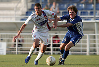 Fotball<br /> Frankrike<br /> Foto: Dppi/Digitalsport<br /> NORWAY ONLY<br /> <br /> FOOTBALL - FRIENDLY GAME 2006/2007 - OLYMPIQUE LYONNAIS v GRENOBLE - 16/07/2006 - KARIM BENZEMA (LYON) / LOGAN ALPHANT (GRE)