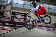 #40 (NAVRESTAD Tore) NOR during practice at the 2019 UCI BMX Supercross World Cup in Manchester, Great Britain