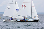 _V0A8098. ©2014 Chip Riegel / www.chipriegel.com. The 2014 Bullseye Class National Regatta, Fishers Island, NY, USA, 07/19/2014. The Bullseye is a Nathaniel Herreshoff designed 15' Marconi rig sailing boat.