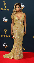 September 18, 2016 - Los Angeles, California, United States - Laverne Cox arrives at the 68th Annual Emmy Awards at the Microsoft Theater in Los Angeles, California on Sunday, September 18, 2016. (Credit Image: © Michael Owen Baker/Los Angeles Daily News via ZUMA Wire)