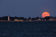 Friday 13th Harvest Moon over Lighthouse Point