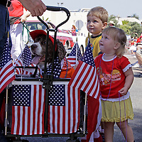 Cardiff by the Sea 100th Birthday Parade: Dog Wagon and Kids
