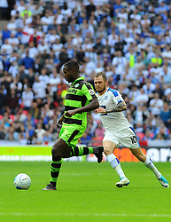 James Norwood of Tranmere Rovers chases down Dale Bennett of Forest Green Rovers- Mandatory by-line: Nizaam Jones/JMP - 14/05/2017 - FOOTBALL - Wembley Stadium- London, England - Forest Green Rovers v Tranmere Rovers - Vanarama National League Final