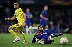 Chelsea's Ruben Loftus-Cheek and BATE Borisov's Aleksey Rios battle for the ball during the UEFA Europa League, Group L match at Stamford Bridge, London.