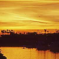 Sunset in the Santa Barbara Yacht Club Harbor