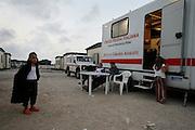 Roma Gypsies get ID cards from Red Cross, Castel Romano, near Rome, Italy