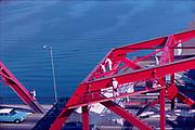 ackroyd_C02137-A11. Painting the Broadway Bridge October 1962,