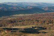 Vast landscape around Allegheny Mountains. West Virginia. United States of America.